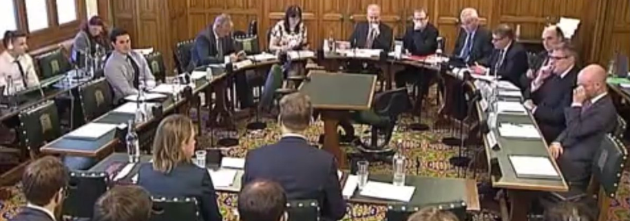 Speaking to the Defence Select Committee